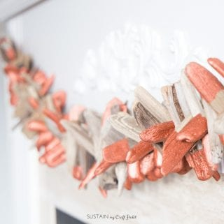 DIY Copper-Dipped Driftwood Garland: Create a Holiday Mantel with Us!
