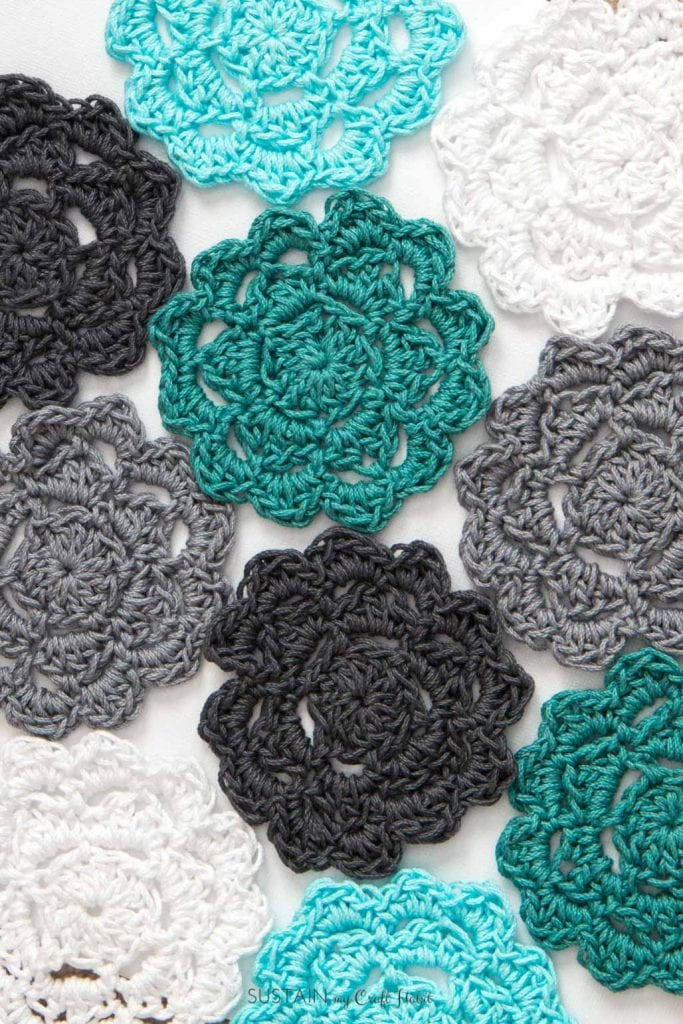crochet coaster patterns for beginners | How to crochet coasters | Crochet afghan rounds | How to crochet a coaster | How to crochet coasters for drinks | #crochet #coasters #handmadegiftidea #lionbrandyarn