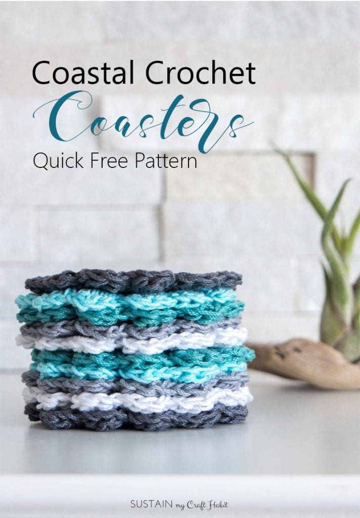 How to crochet coasters for beginners | How to crochet a coaster | Easy #crochet coaster pattern for drinks | DIY #coasters | Beginner #crafts for adults