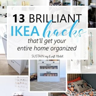 13 clever repurposing and upcycling ideas for your IKEA furniture | IKEA hack ideas to help with home organization