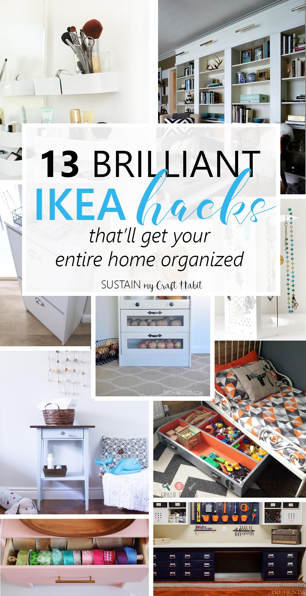13 Brilliant Ikea Hacks To Get Your Home Organized