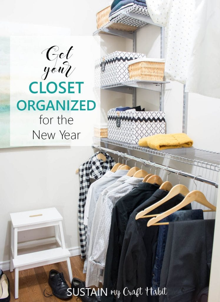 DIY walk-in closet organization ideas with Rubbermaid Configurations | Small closet organization system #homeorganization #homedecor