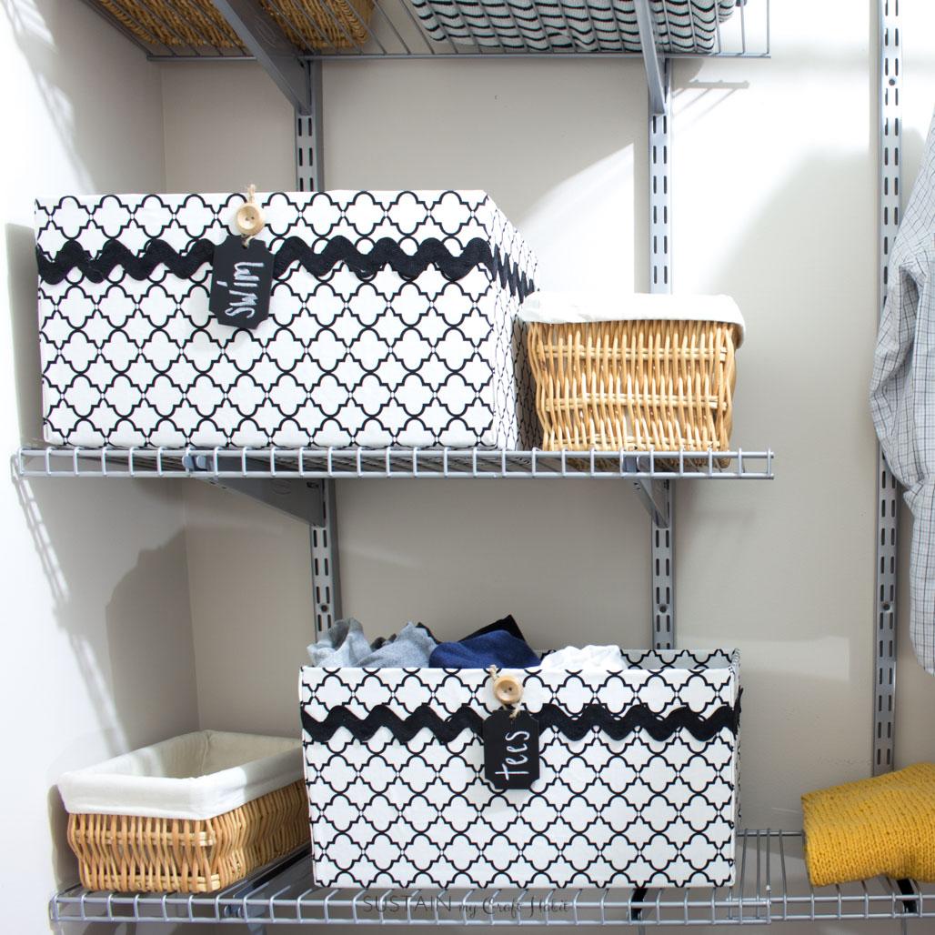 Upcycling A Cardboard Box Into A Stylish DIY Storage Box U2013 Sustain My Craft  Habit
