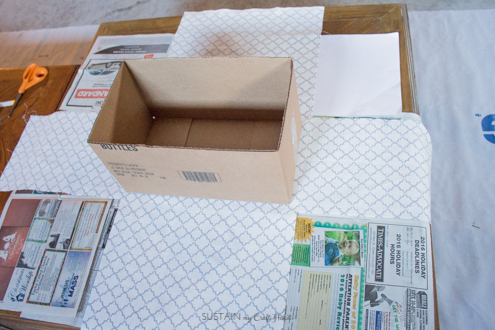 How To Make Fabric Covered Decorative Storage Bo From Cardboard