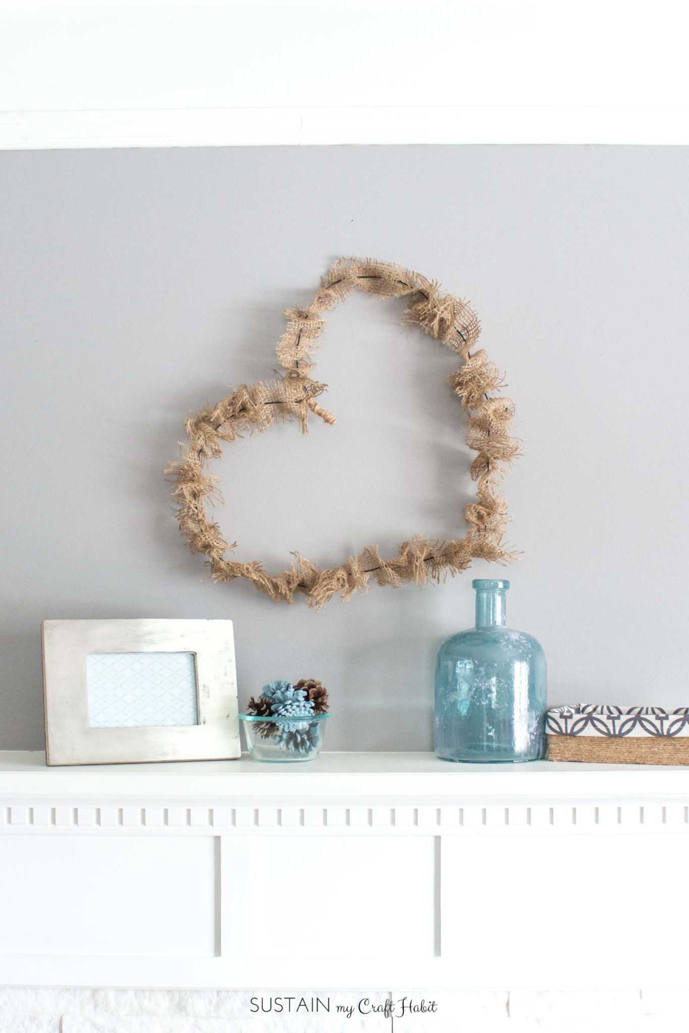 Burlap Heart Wreath Diy Rustic