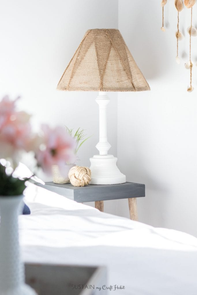 Learn How To Makeover An Old Brass Lamp Base And Outdated Shade Simply Using Some Spray