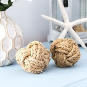 Even though we learned how to make these trendy Monkey's Fists by accident, yours will turn out beautifully with our simple video tutorial. A cheap and easy DIY coastal home décor idea!