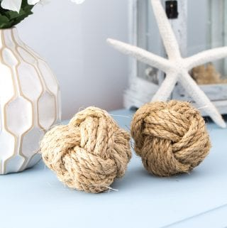 How to Make Monkey's Fists or DIY Nautical Rope Orbs