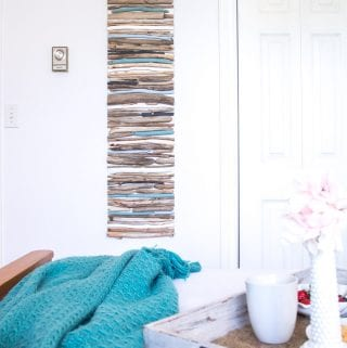 DIY Coastal Decor – Painted Driftwood Wall Art