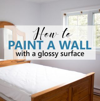 How to Paint a Wall with a Glossy Surface and Wood Trim: Graystone Beach Coastal Cottage Reno Orchardview Room