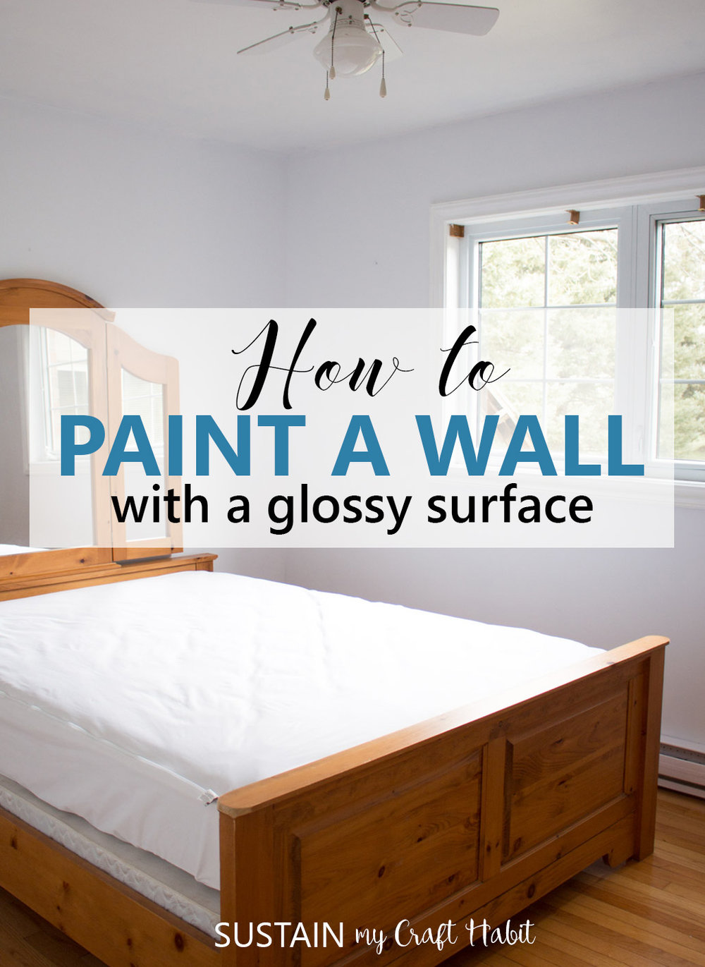 How to paint a wall with a glossy surface and wood trim for How to paint trim