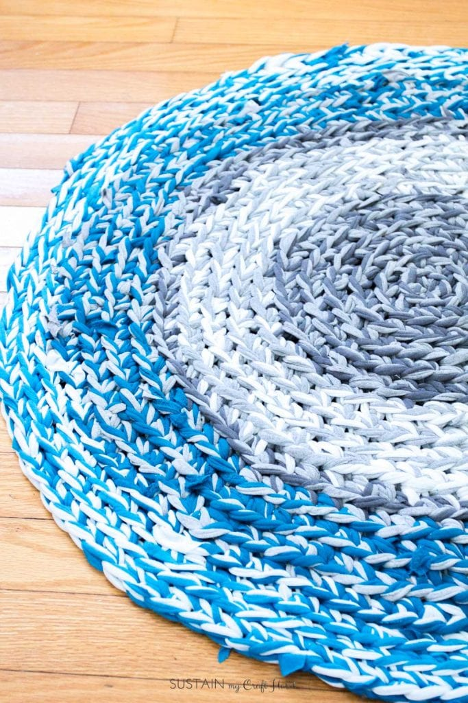 DIY Rag Rug: How to Finger Crochet a