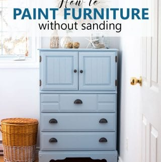 How to Paint a Dresser Without Sanding: Coastal Cottage Painted Dresser
