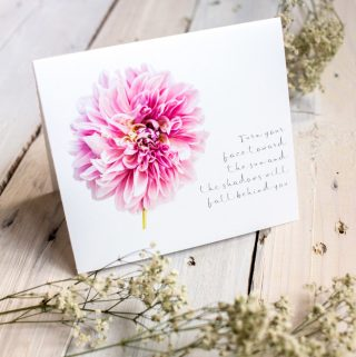 February and March's Free Printable floral Greeting Cards