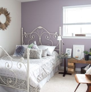 Mauve-lous Guest Bedroom Ideas: A Simple Spare Room Refresh