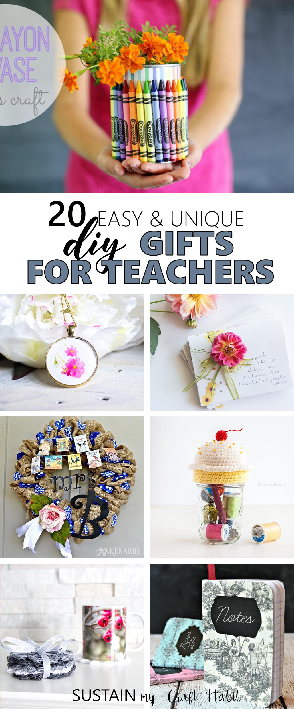 Unique and thoughtful gifts for teachers you can make.