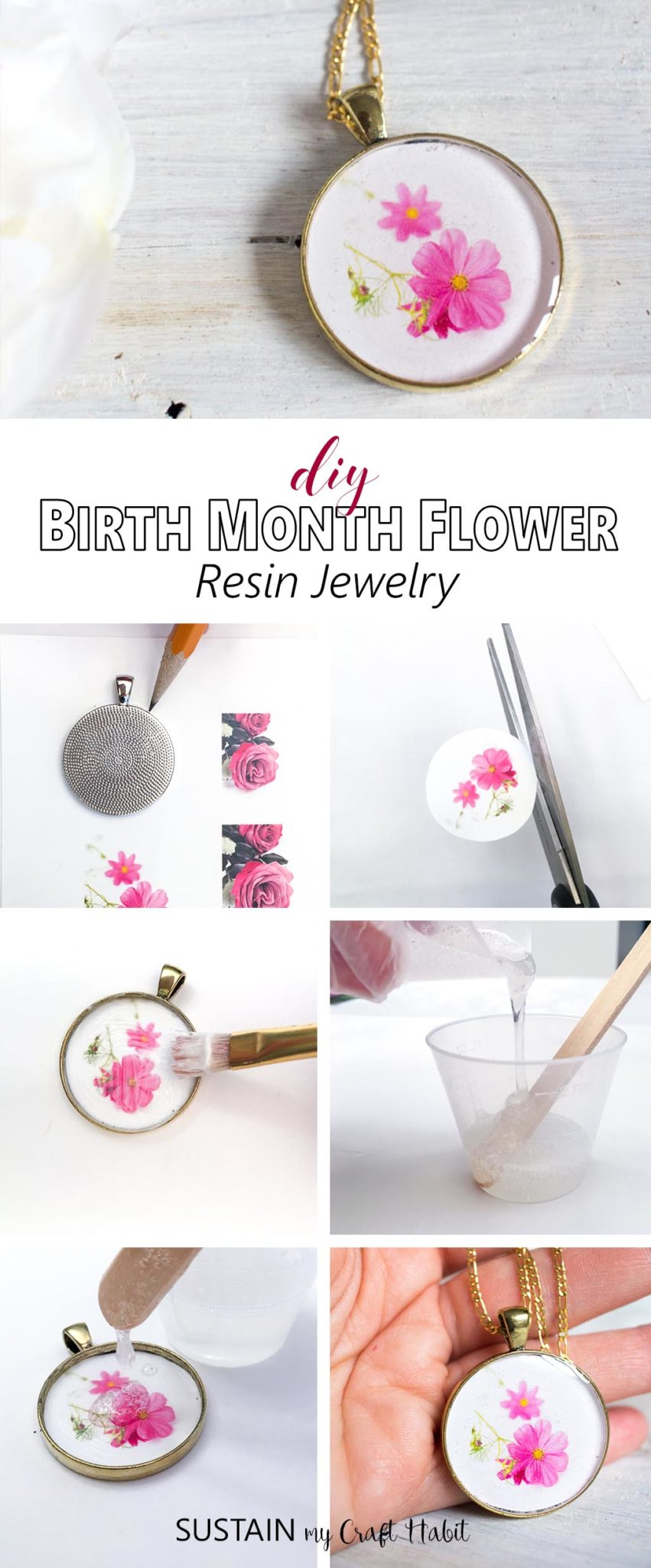 Such a thoughtful and personalized handmade gift idea! Learn how to make resin jewelry with this step-by-step tutorial.