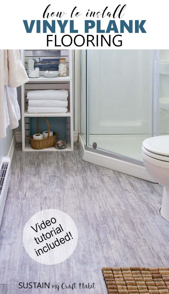 Great video tutorial on how to install vinyl plank flooring! Makes installing vinyl plank flooring yourself totally doable. Reviews for Alllure ISOCORE / LifeProof brand luxury vinyl tile from Home Depot [ad]. #diyflooring #allureprojectsuccess #vinylplank #bathroomremodel #grayflooring