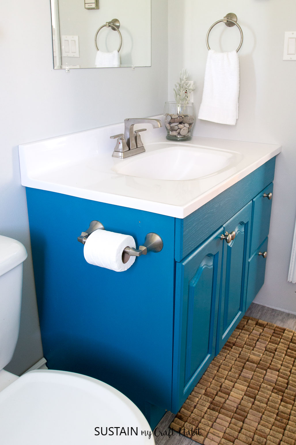Painting a Bathroom Vanity the Easy Way | One Room Challenge ...