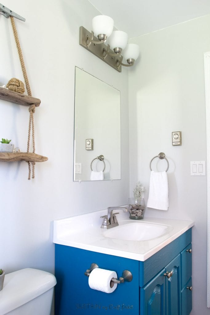 Budget Friendly Beach Themed Bathroom Makeover Sustain My Craft Habit