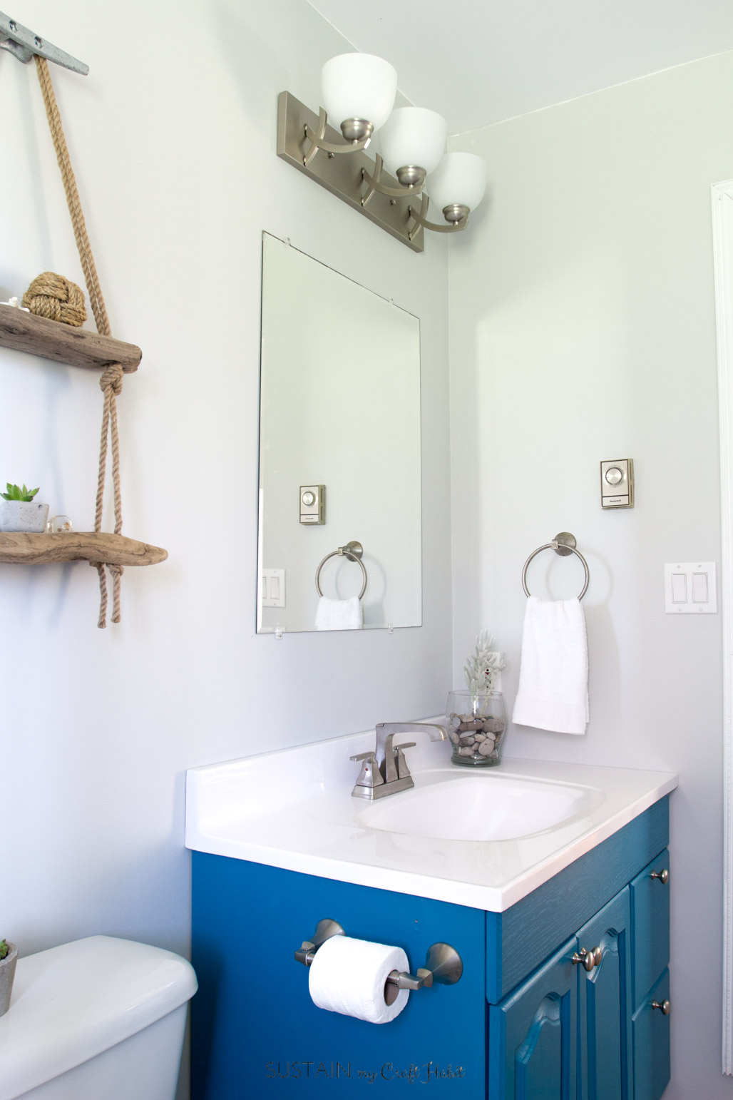 Small bathroom remodel coastal style 1318 sustain my for Redesign my bathroom