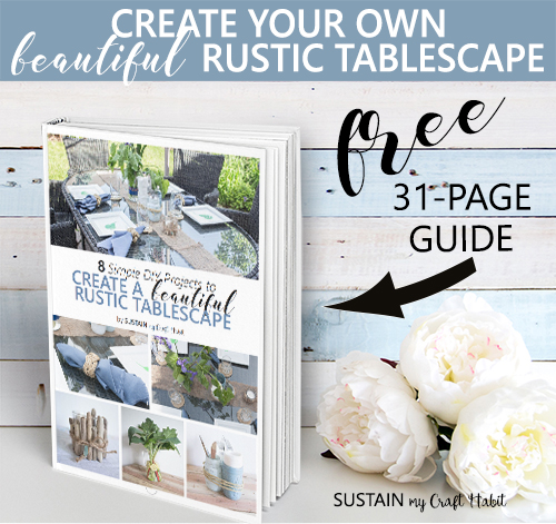 Free rustic tablescape guide