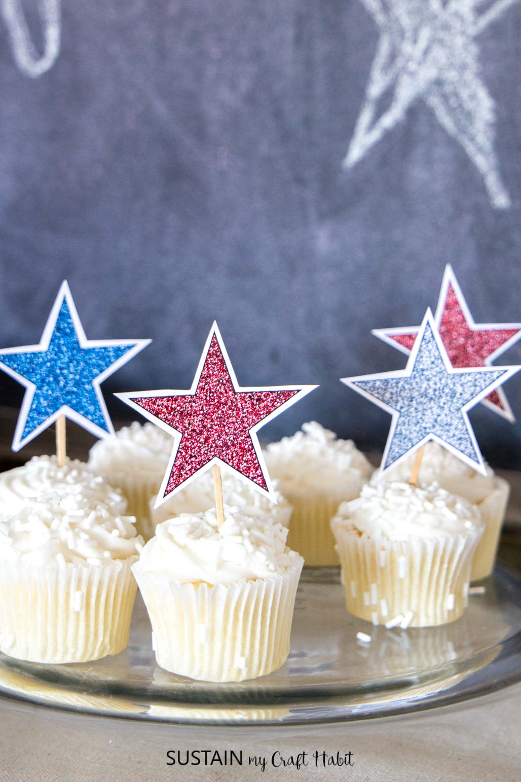 4th of July Decorations: Sparkling Stars Decor (with Free ...
