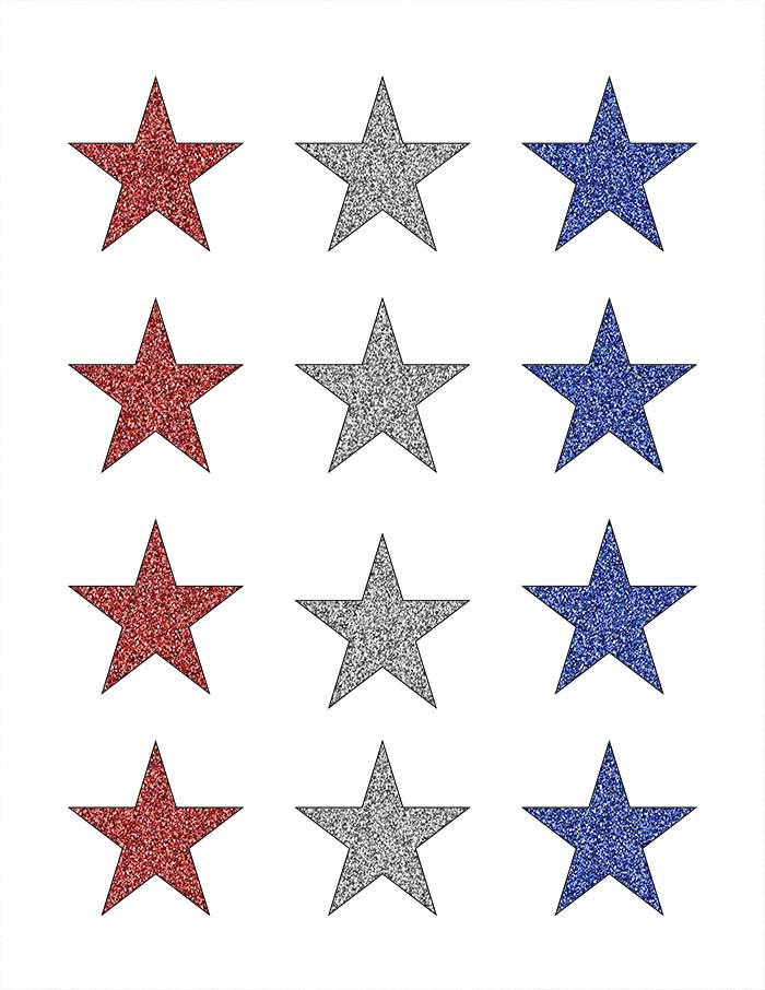 image about Free Printable Stars named 4th of July Decorations: Glowing Celebs Decor (with Totally free