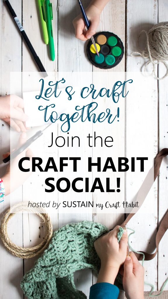 Craft with other craft addicts! Join the Craft Habit Social hosted by Sustain My Craft Habit for tips, ideas and a supportive community to create with.