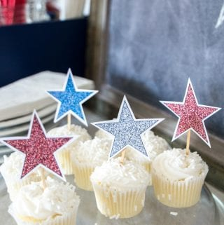4th of July Decorations: Sparkling Stars Decor (with Free Printable)