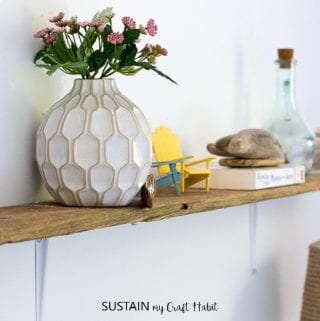 A Simple Rustic DIY Shelf with Driftwood