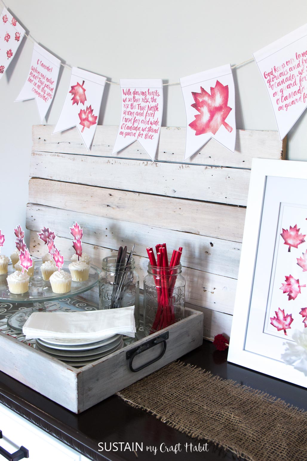 Free Printable Canada Day Decorating Ideas 2013 Sustain My Craft Habit