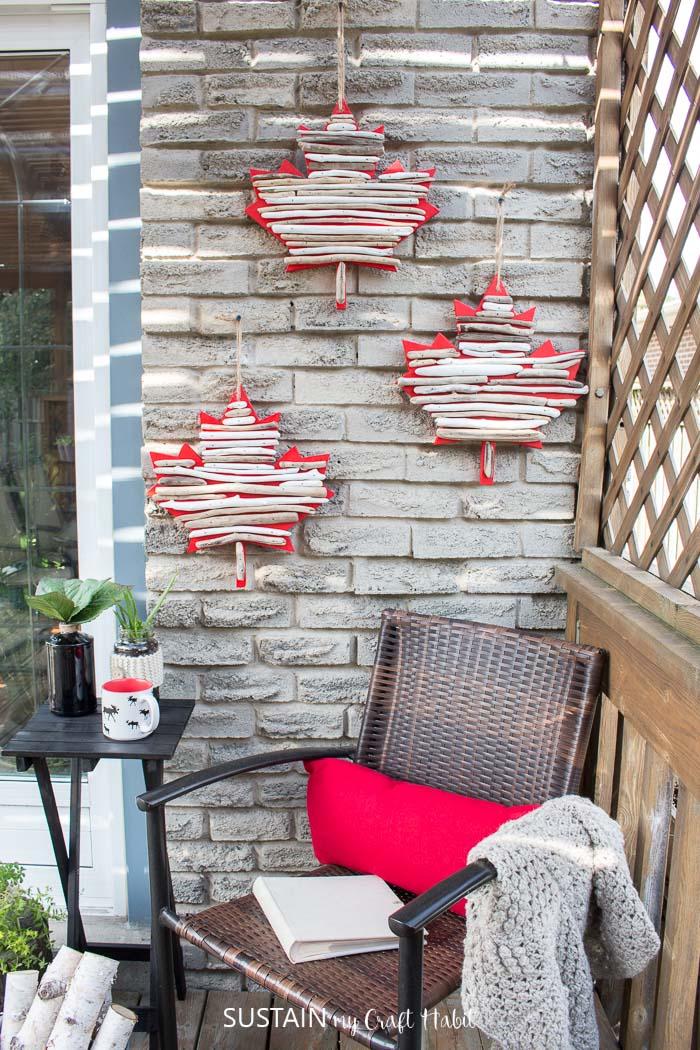 Canada Day Crafts Diy Maple Leaf Decor With Driftwood Sustain My