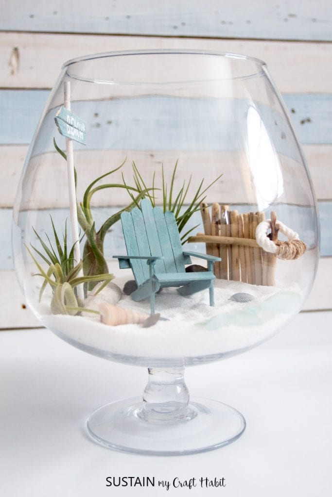 Diy Beachy Air Plant Mini Garden Terrarium Sustain My Craft Habit