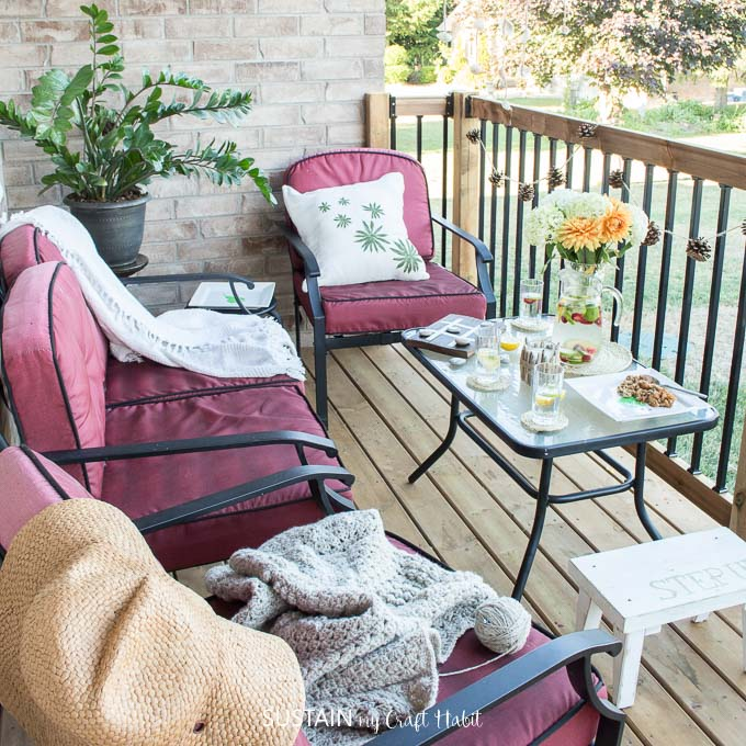 From decor, games, food and drink, we have twelve DIY patio decorating ideas to wow your guests this summer or create a cozy patio oasis to relax in.