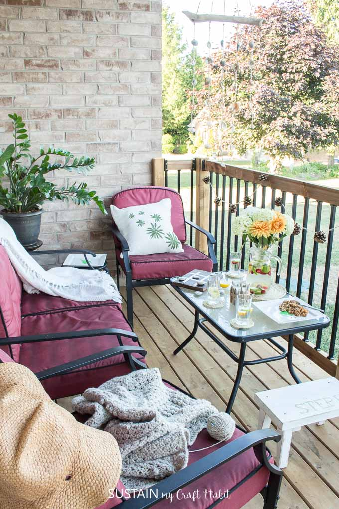 12 DIY patio decorating ideas to wow your friends this summer or to create a cozy patio oasis to relax in.
