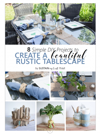 8 Simple DIY Ideas to Create a Beautiful Rustic Tablescape. Free Printable guide.