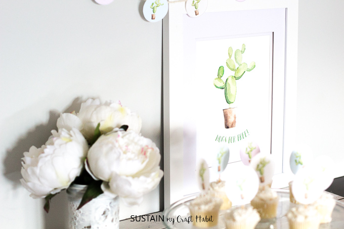 picture regarding Cactus Printable named Hugs for No cost! Cactus Wall Artwork Printable Preserve My Craft