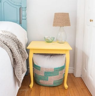 How to Refinish a Table with Paint and a Stencil