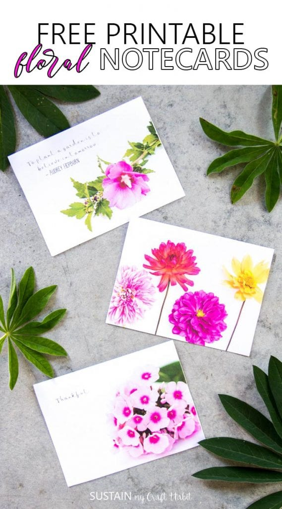 Grab these free printable floral cards celebrating all that Mother Nature has to offer in the summer. Have a stack on hand for any occasion!