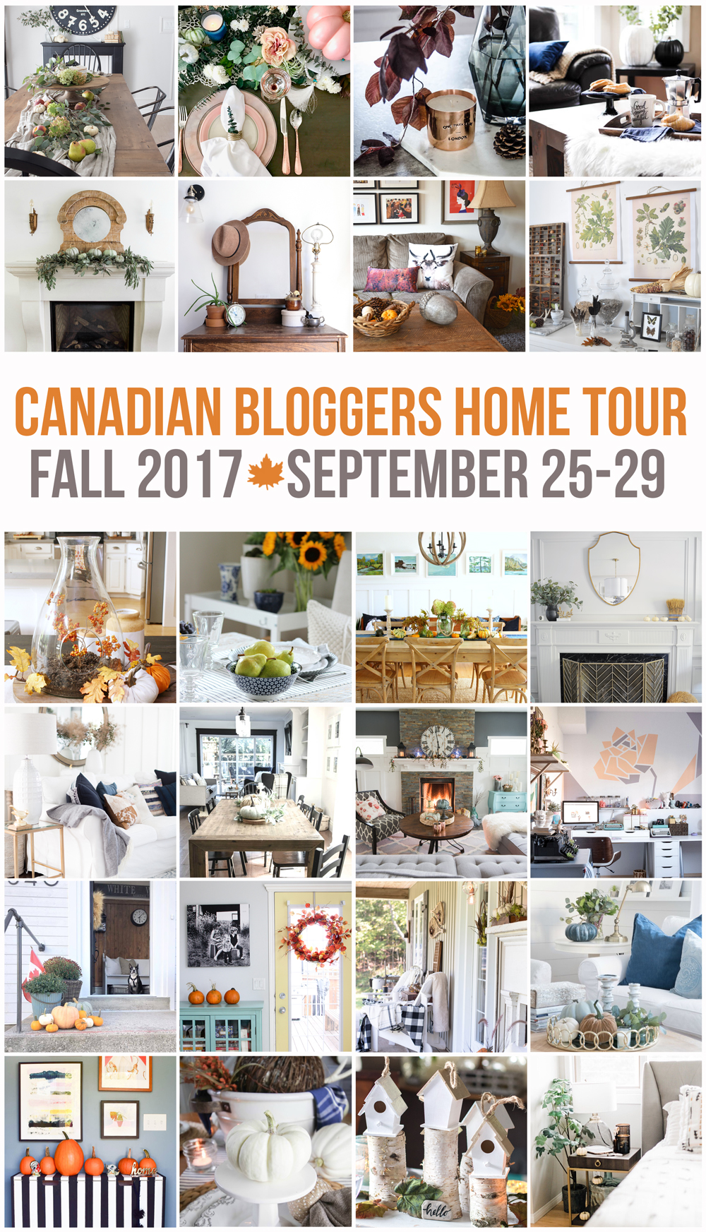 Inspiring and gorgeous Canadian bloggers Fall Home Tours.