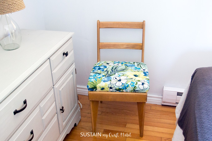 How To Reupholster A Chair Seat Sustain My Craft Habit
