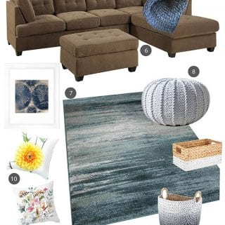 Family Room Decorating Ideas: Blue Living Room Makeover