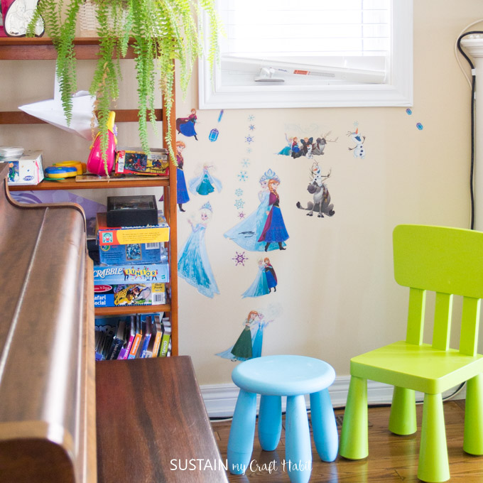 Family room decorating ideas. Creating a kid-friendly living room for our home.