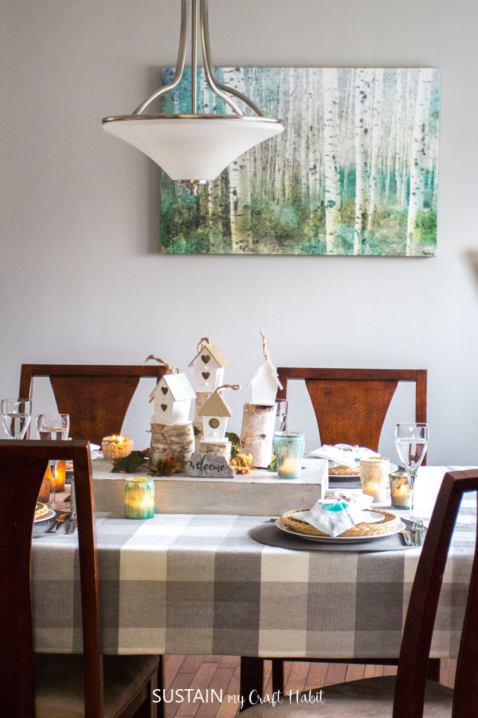 Rustic fall home tour and Thanksgiving #tablescapes   Fall table decor ideas   #Thanksgiving tablescape