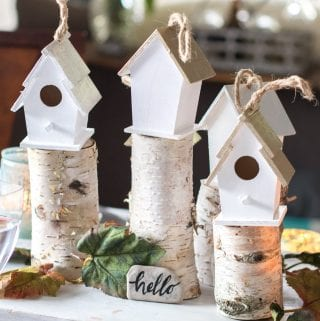 Rustic Centerpiece Ideas: A Birdhouse Village