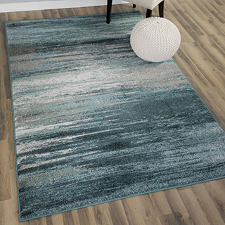 Vintage rug in shades of blue