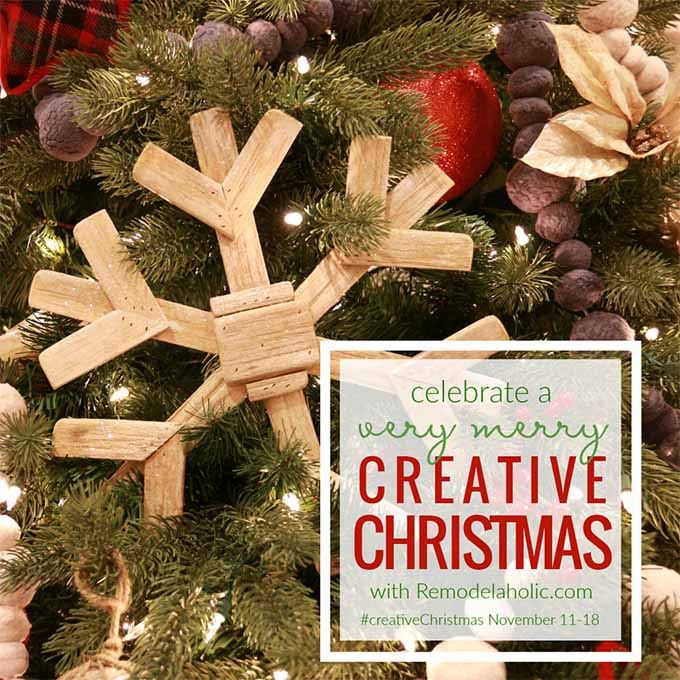 Remodelaholic #CreativeChristmas challenge. Dozens of inspiring #ChristmasCrafts including DIY reindeer crafts and ornaments. #reindeer