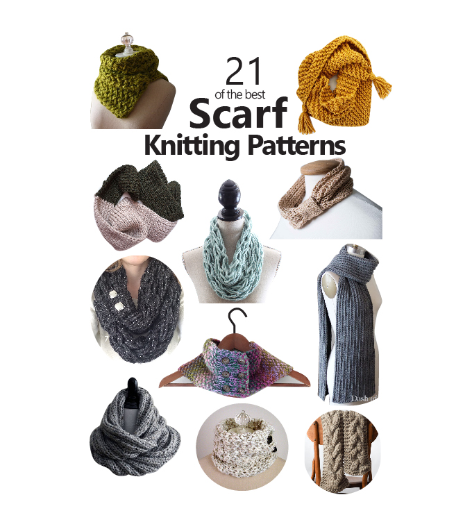 7eca79c56533d 21 of the Best Scarf Knitting Patterns – Sustain My Craft Habit
