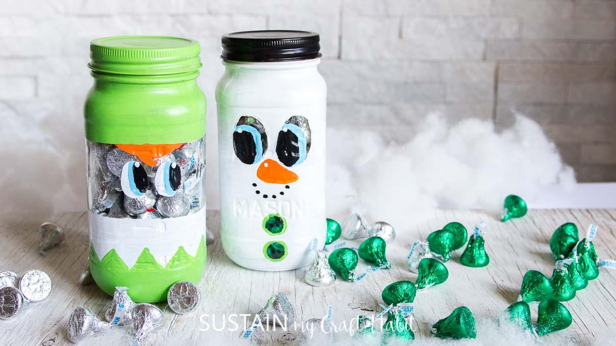 Christmas Mason Jars Gift Ideas: Snowman & Elf {Video} – Sustain My ...